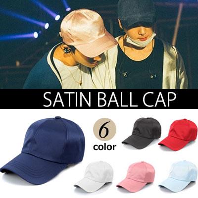 WINNER MINO STYLE! Faint luster of satin ball cap (6COLORS)