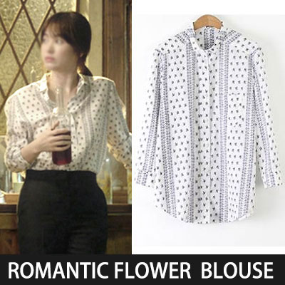 [Korean drama  DESCENDANTS OF THE SUN MOYOEN STYLE!] ROMANTIC FLOWER BLOUSE