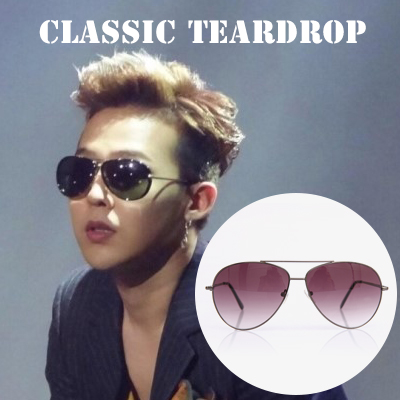 [G-DRAGON & INTERNATIONAL CELEBRITIES Fashion!] CLASSIC TEARDROP SUNGLASSES (4COLORS)