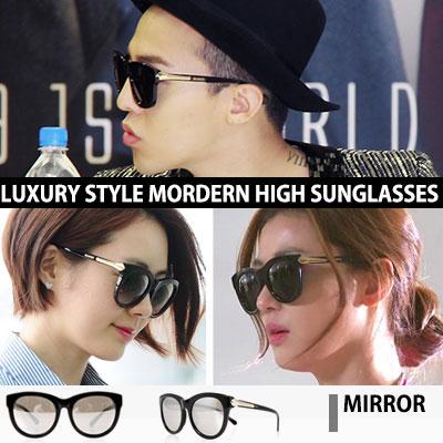 [BIGBANG G-DRAGON, Jeon Ji Hyun, Lee Yo Won, Jeong Ryeo Won STYLE!] Modern high mirror sunglasses
