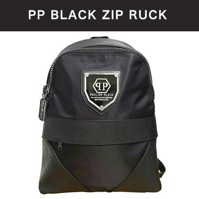 PHILIP PLEIN BLACK ZIP backpack (UNISEX)