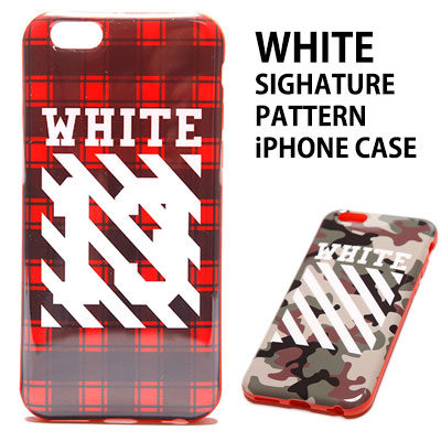 ★High Quality★WHITE SIGNATURE PATTERN iPHONE 6CASE/iPhone6/6S