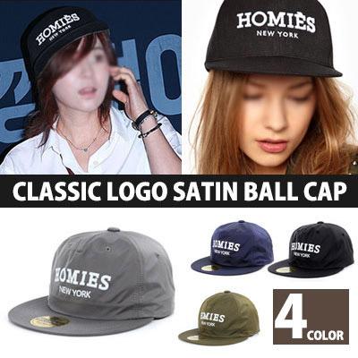 HOMIES CLASSIC LOGO SATIN BALL CAP