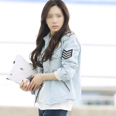 [SNSD STYLE!] PINSTRIPE ARMY PATCH JACKET