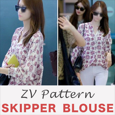 [Girls Yoon Fashion!] / ZV original pattern / PATTERN SKIPPER BLOUSE