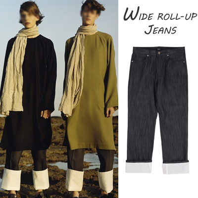 ★UNIQUE STREET STYLE★WIDE ROLLUP PANTS