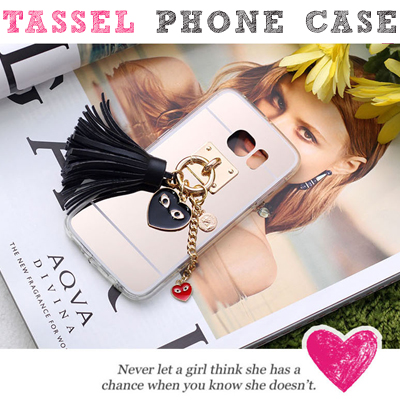 Tassels attached Phone Case (iPhone / Galaxy / Galaxy Note / LG G3 / LG G4)