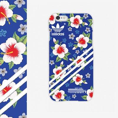 3LEAVES FLOWER PATTERN BLUE PHONE CASE