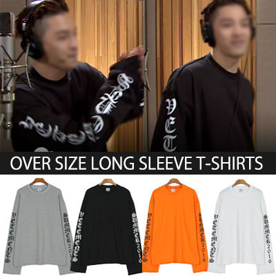KOREAN TV PROGRAM FANTASTIC DUO BIGBANG TAEYANG STYLE!OVER FITTING CLASSIC LOGO SWEATSHIRT
