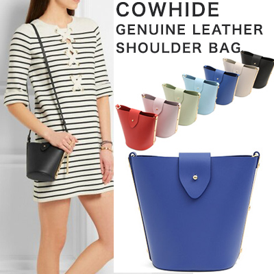 COWHIDE GENUINE LEATHER SHOULDER BAG(7COLORS)
