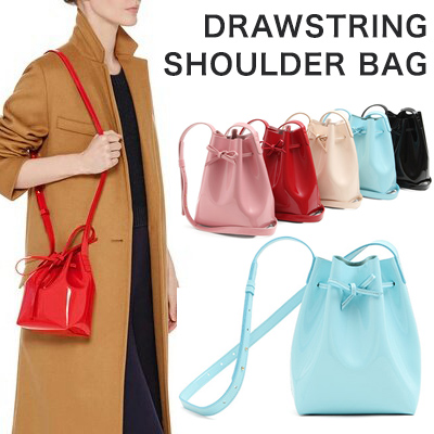 DRAWSTRING SHOULDER BAG(5COLORS)
