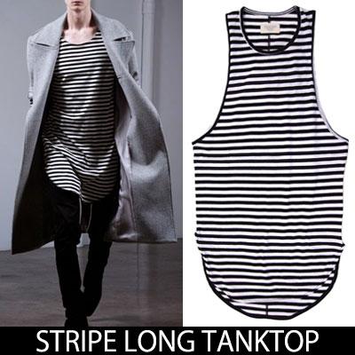 ★2018 NEW VER.★ LONG STRIPE TANK TOP