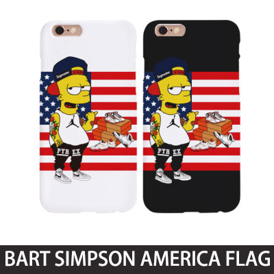 Popular characters Simpson!BART SIMPSON AMERICA FLAG smartphone case