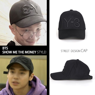 ▶BTS, SHOW ME THE MONEY STYLE◀ STREET DESIGN! NUMBER 3 embroidery CAP