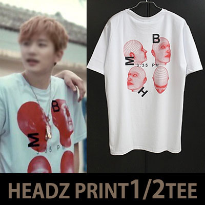 [2PM,ASIAN PRINCE JANG KEUN-SUK,BTS STYLE!] HEADZ ★GRID VER.★ SHORT SLEEVED T-SHIRT