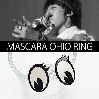 [G-DRAGON STYLE!] MASCARA OHAIO RING (one size fits all)