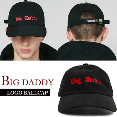 BIG DADDY LOGO BALLCAP (RED AND BLACK COLOR)