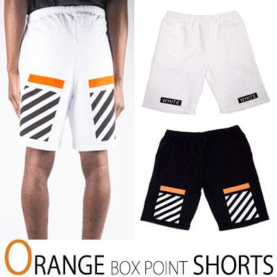 (purchase as single item) ORANGE STRIPES BOX SHORTS