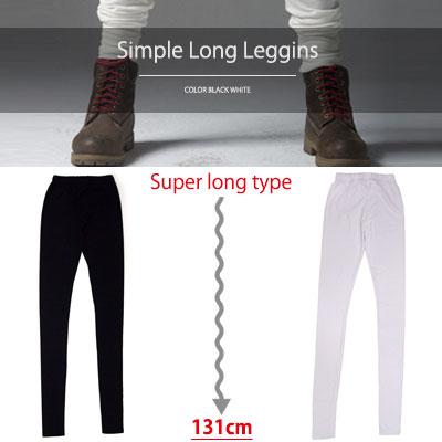 SIMPLE SUPER LONG LEGGINGS(WHITE,BLACK)