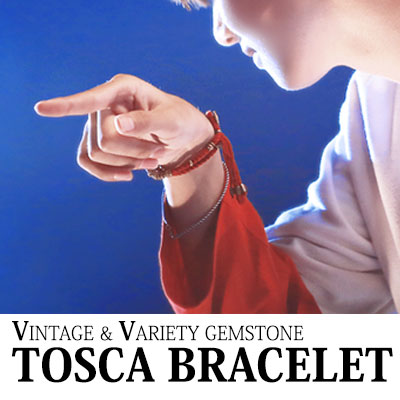 [BTS style!] VINTAGE&VARIETY GEMSTONE TOSCA BRACELET(BLACK,BLUE,RED)