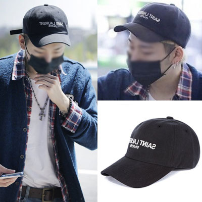 ★FAMOUS LUXURY STYLE!★BLACK BRAND NAMES PRINTED BALL CAP (ZICO/MEN'S CAP)mirror ballcap