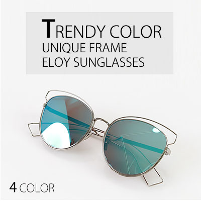 TRENDY COLOR UNIQUE FRAME ELOY SUNGLASSES