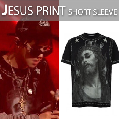★UNISEX★Luxury Fashion Street Style! Jesus print short-sleeved T-shirt