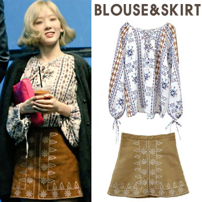★SET33%OFF★FEMININE ST. ETHNIC BLOUSE+SKIRT SET