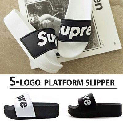S LOGO PLATFORM SLIPPER(FOR WOMEN)