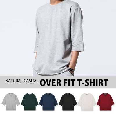 [BASIC SIMPLE LINE]NATURAL CASUAL OVER FIT T-SHIRT