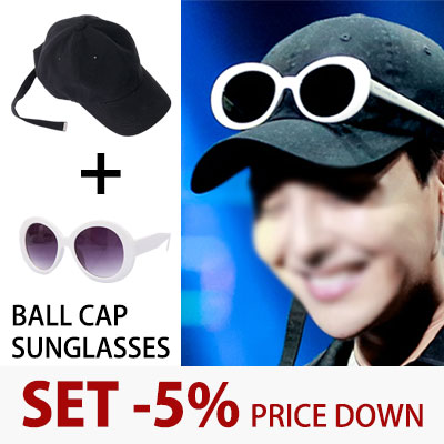 [PURCHASE AS A SET AND GET 5% OFF] G-DRAGON ST. LONG STRAP BALL CAP+KURT COBAIN SUNGLASSES