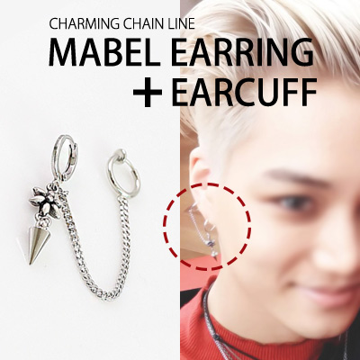 [EXO STYLE!]CHARMING CHAIN LINE MABEL EARRING+EARCUFF(3TYPE)