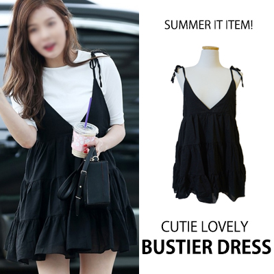 [K-POP IDOL HYUN A STYLE] SUMMER IT ITEM! CUTIE LOVELY BUSTIER DRESS