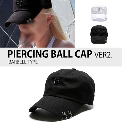 PIERCING BALL CAP VER2. (BARBELL TYPE)
