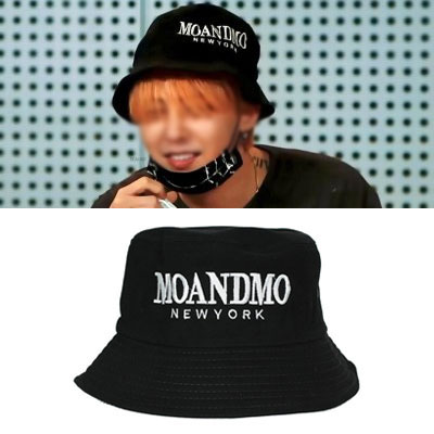 G-DRAGON FASHION STYLE!LOGO POINT BUCKET HAT