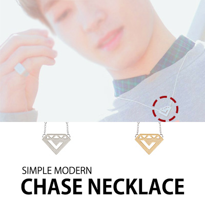 [K-POP IDOL SEVENTEEN STYLE] SIMPLE MODERN DESIGN CHASE NECKLACE