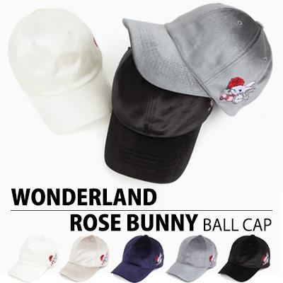 WONDERLAND ROSE BUNNY BALL CAP