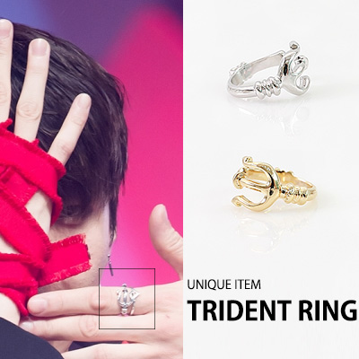 [K-POP IDOL VIXX STYLE]UNIQUE TRIDENT RING