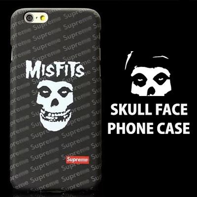 'S'LOGO SKULL FACE PHONE CASE(iPhone6/6s)