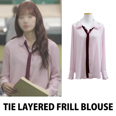 DOCTORS PARK-SHINHYE FASHION/TIE LAYERED FRILL BLOUSE