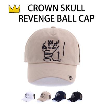 CROWN SKULL REVENGE BALL CAP(4COLOR)
