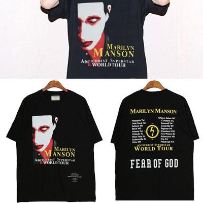 MANSON FACE PRINT SHORT SLEEVE T-SHIRTS