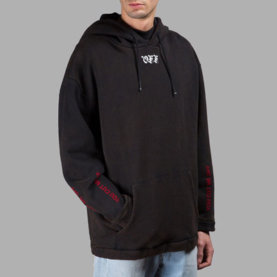 ENGLISH LOGO AND NECK POINT HOODIE