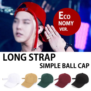 ★Economy Ver.★[ADD COLOR]FASHION LEADER G-DRAGON!HIS BEST ITEM! LONG STRAP SIMPLE BALLCAP