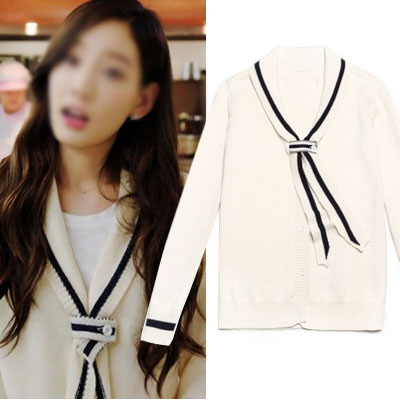 SNSD TAEYEON,PARK BORAM FASHION STYLE!NECK TIE POINT SAILOR STYLE KNIT