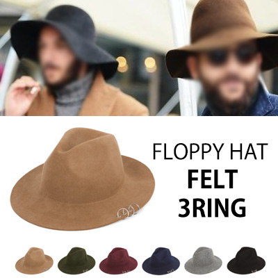 UNIQUE DESIGN! FLOPPY HAT FELT 3RING