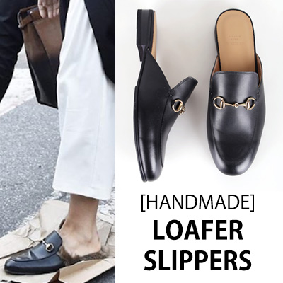 [UNISEX][22.5~28.0cm]WIDTH&INSOLE'POSSIBLE TO CUSTOMIZE ORDER'★UNIQUE STYLE LOAFER SLIPPERS