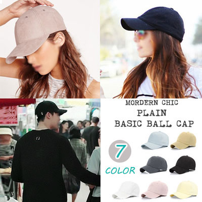 ★7COLORS★KOREAN POPULAR DRAMA [W] LEE JONGSUK STYLE!PLAIN COTTON BALLCAP