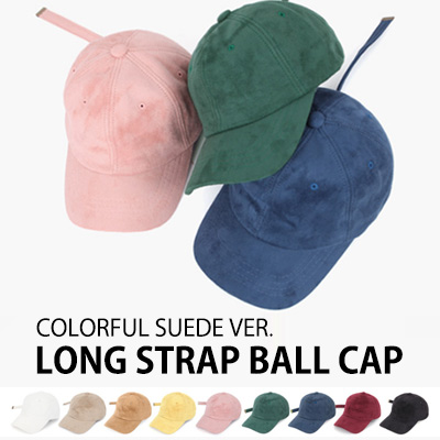 [COLORFUL SUEDE VER.] LONG STRAP BALL CAP