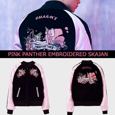 F(x)AMBER,APINK,RAPPER RAVI,K-POP IDOL STYLE!PANTHER EMBROIDERED SKAJAN JACKET